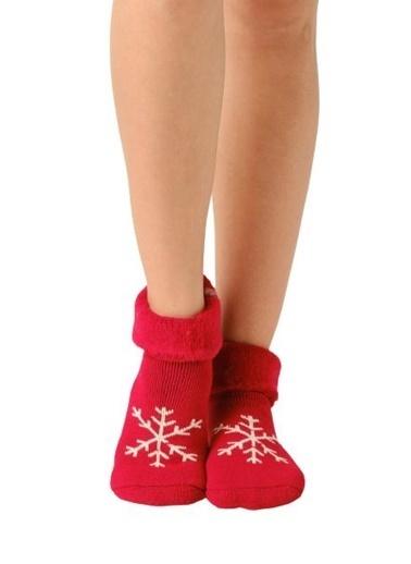 Elif İç Giyim Kadın Kırmızı Yeni Yıl Soket Çorap Renkli